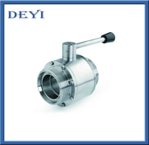 Hygienic Three Way Threading Ball Valve pictures & photos