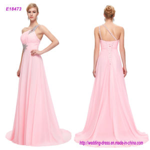 One-Shoulder Beading A Line Prom Dress pictures & photos