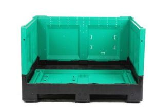 Collapsible Plastic Fruit Crate Stackable Plastic Tote Bin pictures & photos