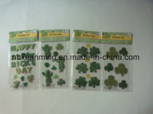 Glitter Window Gel Clings Seasonal Gift St. Patrick′s Day Decoration pictures & photos