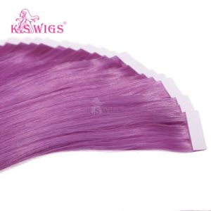 Special Lilac Remy Human Tape Hair Extension pictures & photos