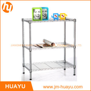 Hot Sale 3-Tier Chrome Kitchen Laundry Wire Metal Storage Shelving pictures & photos