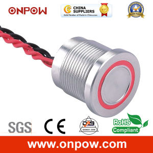 Onpow 19mm Piezoelectric Switch with Light (PS193P10YSS1R12T, CCC, CE) pictures & photos