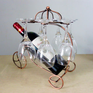Home Decoration Metal Wine Rack Wine Cup Holder Hanging Rack pictures & photos