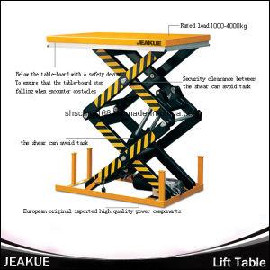 Jeakue Double Scissors Electric Lift Table 1000-4000kg pictures & photos