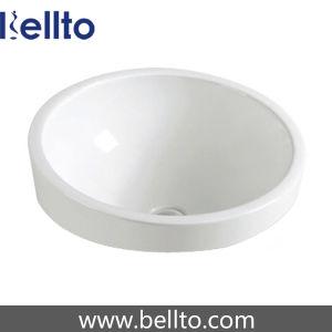 Recessed Mounted Ceramic Wash Basin for Quartz Vanity Top (6213) pictures & photos