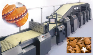 Advanced Technology Full Automatic Sandwich Biscuit Production Line pictures & photos