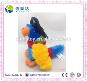 Native Art Crafts Pirate Parrot Soft Plush Cartoon Toy pictures & photos