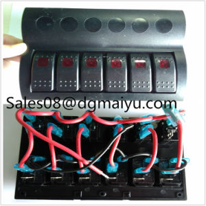 Af6 Gang LED Boat Caravan Circuit Rocker Switch Panel Auto Fuse Holders pictures & photos