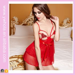 Red Sexy Lady Night Wear Babydoll Club Wear Transparent Lingerie pictures & photos