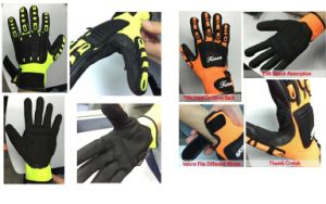 Nmsafety Vibration Resitant Automotive Work Mechanic Gloves pictures & photos