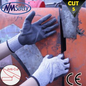 Nmsafety DMF Free PU Coated Cut Resistant Work Safety Glove pictures & photos