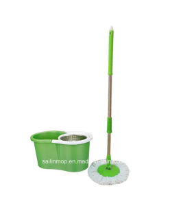 Hand Press Spin Mop with Steel Basket Bucket (SL-S017)