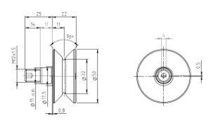 Hpve32, V-Grooved Ecconcentric Stud, Osborn Design Bearing, Load Runner, Idler-Rollers