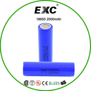 Lithium Ion Battery 1865018650 Rechargeable Batteries 3.7V 2000mAh pictures & photos