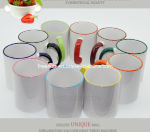 FDA Sublimation Ceramic Mug with Rim and Handle Color (SKB-02) pictures & photos
