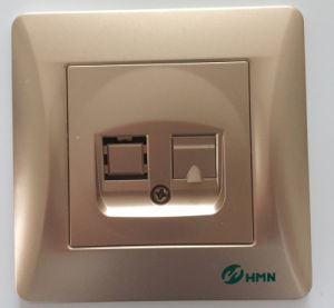 Hermano High Quality Switch Socket Supplier 1 Gang TV Socket pictures & photos