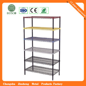 6 Tiers Epoxy Coated Commercial Wire Shelving pictures & photos
