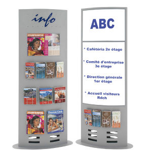 Metallic Display Stand with Graphic or Hanging Holders pictures & photos