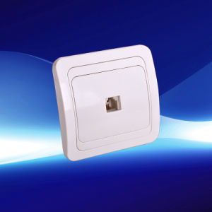 1 Gang Telephone Wall Socket European Style (YW8007)