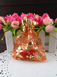 Promotional Printed Bronzing Organza Bag Wholesale pictures & photos