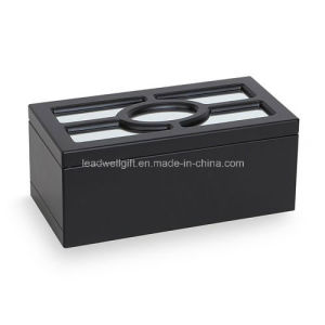 Black Wooden Jewelry Box with Tray & Organizer Storage Case pictures & photos