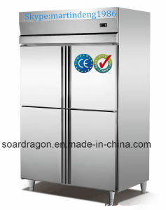 2 Door S/S 304 Storage Kitchen Freezer for Hotel Use pictures & photos