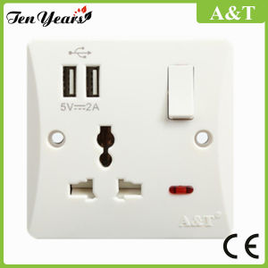 13A Socket Outlet with USB Port pictures & photos