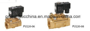 PU Series Two-Position Two-Way Solenoid Air Valves, Brass Valve pictures & photos