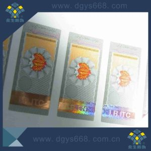 Hot Stamping Hologram on Paper Sticker pictures & photos