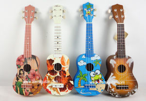 Aiersi Toy Hawaii Style Pattern Colour Children Ukulele pictures & photos