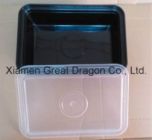 Plastic Microwave Rectangle Container (Lunch Box) (LB12011) pictures & photos