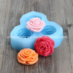 3D Flower Silicone Soap Moulds Silicone Flower Moulds of Soap 3 Flower a Tray Nicole H0194
