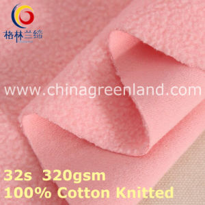 Cotton Knitted Polar Fleece Brush Fabric for Textile Garment (GLLML394) pictures & photos