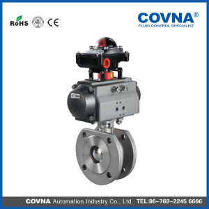 Approved Flange Pneumatic Thin Type Ball Valve with Limited Switch