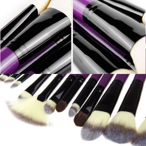 24 PCS Romatic Purple Cosmetic Makeup Brushes pictures & photos