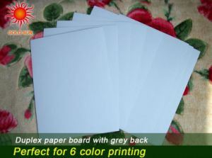 Mixed Pulp Coated Duplex Board Grey Back pictures & photos