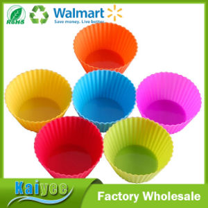 24-Pack Reusable Silicone Baking Cups Cupcake Muffin Cups Cake Molds pictures & photos