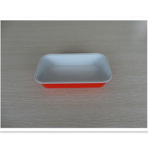 350ml Disposable Rectangle Foil Casserole with Lid pictures & photos