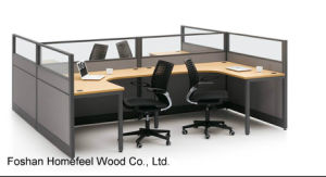 High Quality Wall Glass Partiton Office Workstation (HF-BSP005) pictures & photos