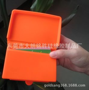 Top Sale New Design Silicone Bussiness Card Holder pictures & photos