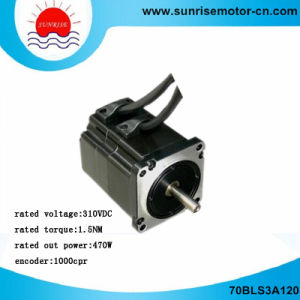 70bls3a120 310VDC 470W 3000rpm 1000CPR Brushless (BLDC) DC Servo Motor pictures & photos