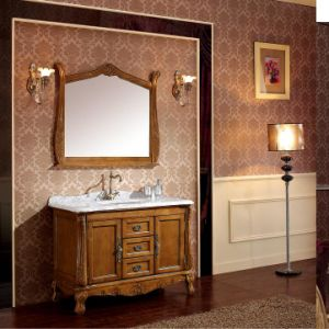 Classic Solid Wood Bathroom Cabinet pictures & photos