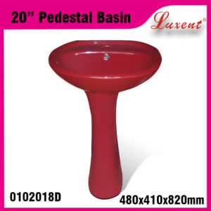 Hot Sale Bathroom Pottery out Door Face Wash Pedestal Basin