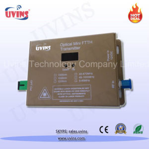 CATV 1310nm FTTH Mini 10MW Optical Transmitter pictures & photos