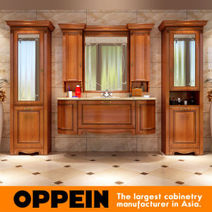 Oppein Luxury Modern Cherry Wood Bathroom Cabinets (OP15-200A) pictures & photos