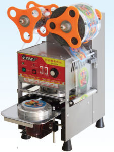 Ce Fully Automatic Cup Sealing Machine for Bubble Tea pictures & photos