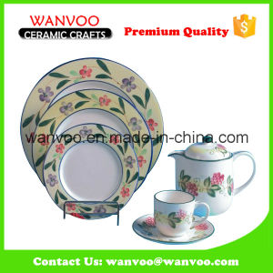 New Design Ceramic Dinner Set with Plates Dishs Cups pictures & photos