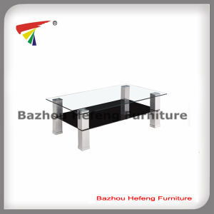 Living Roomtempered Glass Coffee Table with Aluminium Legs (CT081) pictures & photos