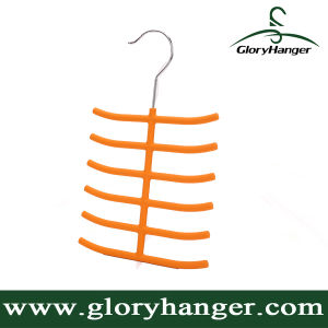 New Rubber Coated Plastic Tie Hanger for Display - ABS (GLPH105) pictures & photos